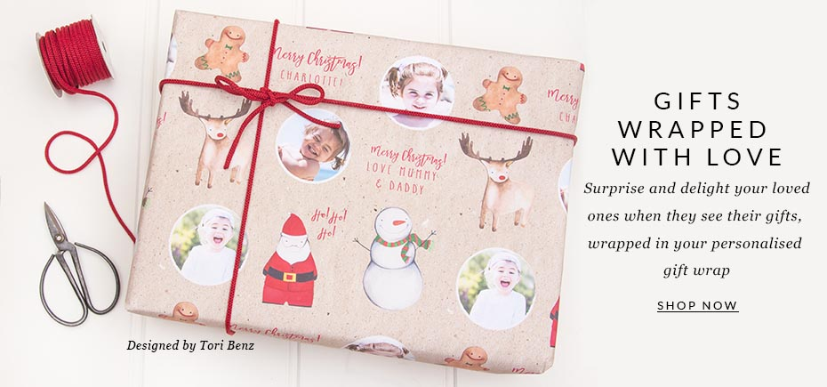 Photo Christmas Wrapping Paper | Personalised Christmas Wrapping Paper
