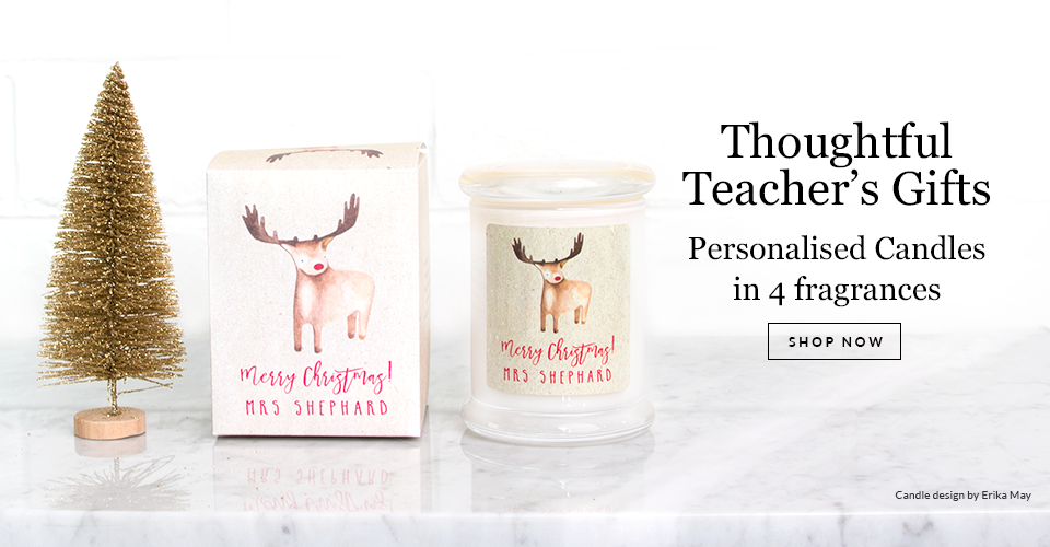 Personalised Teachers Gift Candles