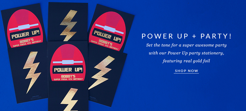 Personalised Power Up Party Invitation