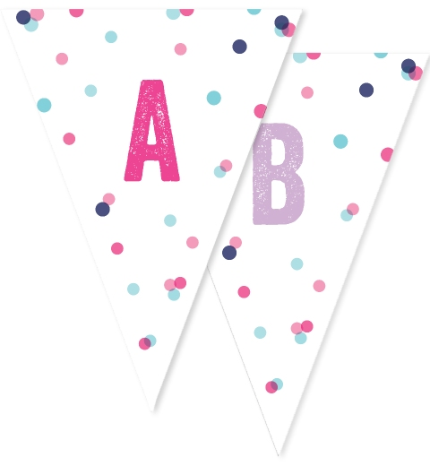 Letterpress Party Theme Bunting