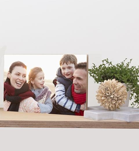 12 x 8in Wooden Photo Block