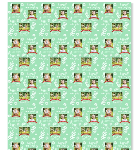 Botanical Noel Wrapping Paper