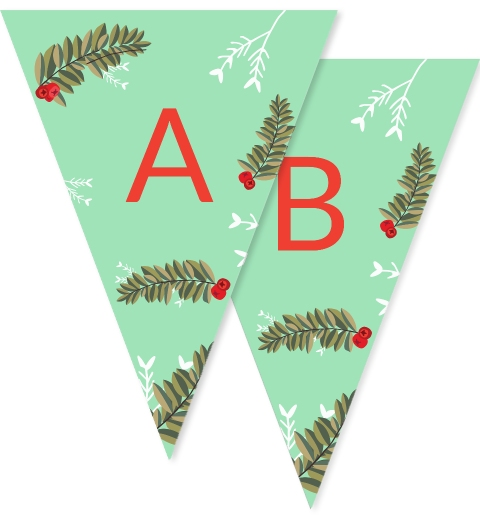 Christmas Berries Bunting