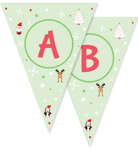 Mint Christmas Critters Bunting
