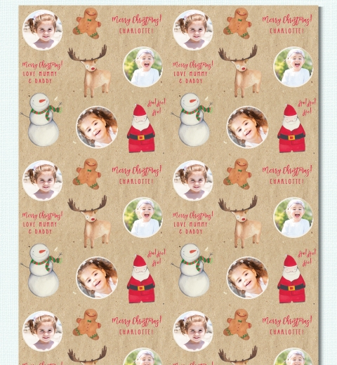 Christmas Crew Wrapping Paper by Tori Benz