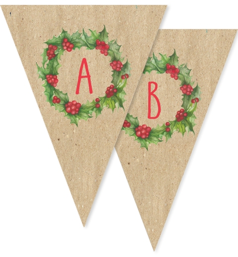 Christmas Wreath Bunting