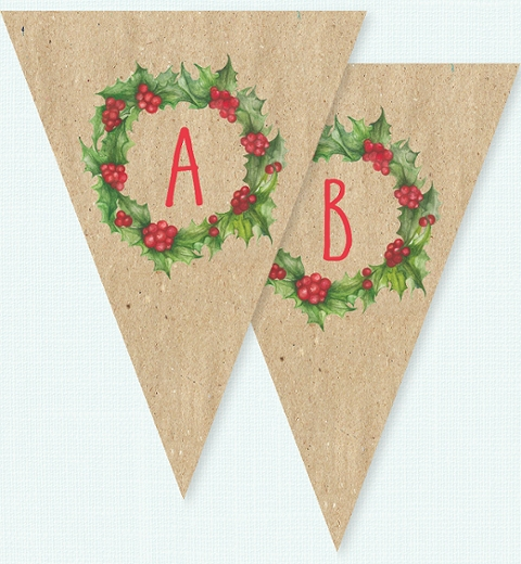 Christmas Wreath by Tori Benz Bunting