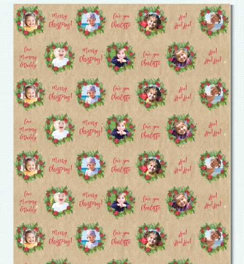 Christmas Wreath by Tori Benz Wrapping Paper