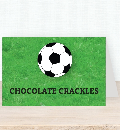 Soccer Party Tent Card