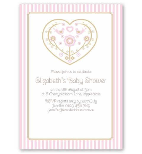 Skandi Birdies Baby Shower ~ Baby Girl