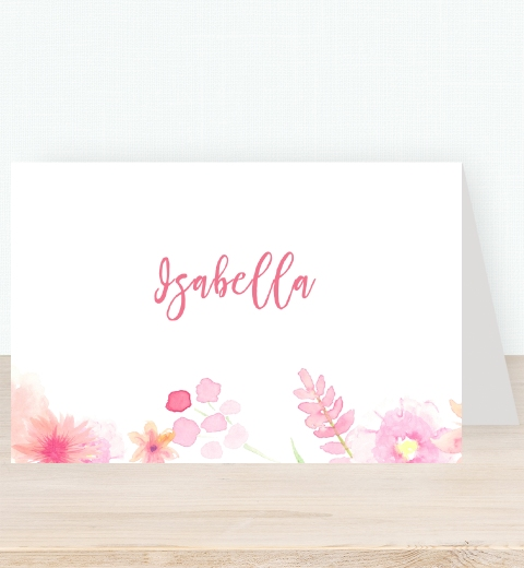 Sweet Florals Tent Card