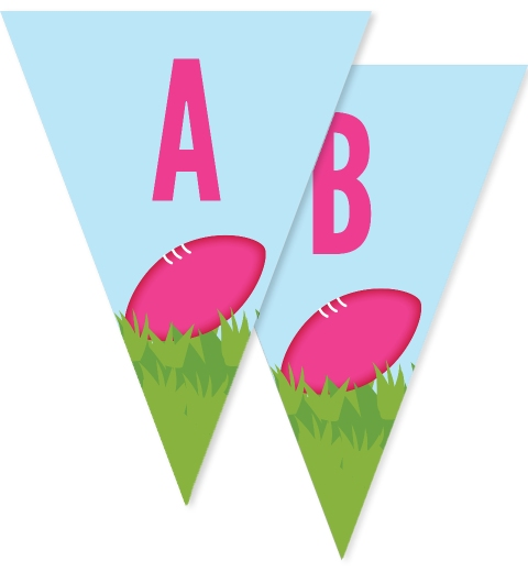 Pink Aussie Rules Bunting