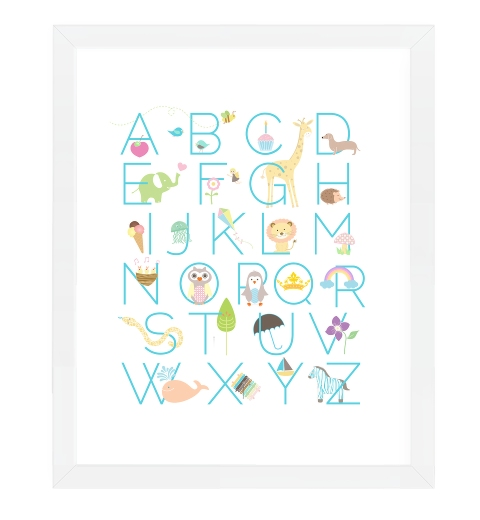 Nursery Alphabet Print - Pastel