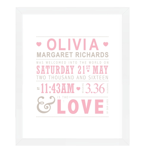 Love Birth Print - Pinks