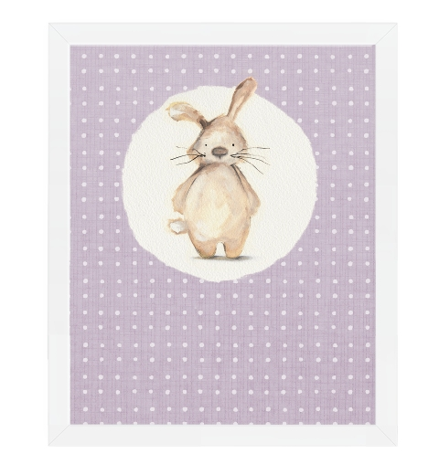 Mauve Bunny by Tori Benz