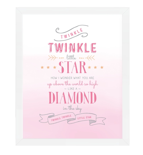 Twinkle Twinkle Little Star in Pink