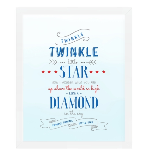 Twinkle Twinkle Little Star in Blue