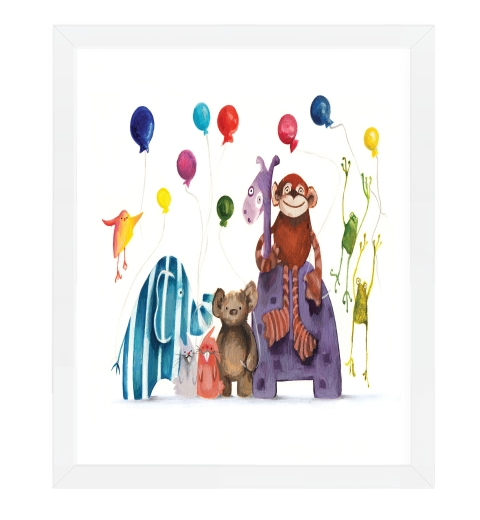 Party Animals Print by Tori Benz