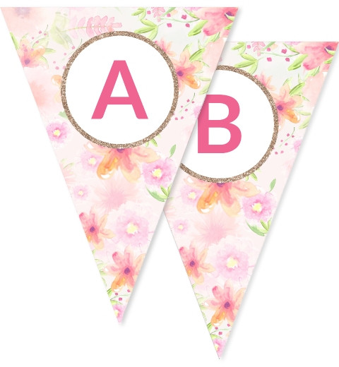 Golden Floral Bunting
