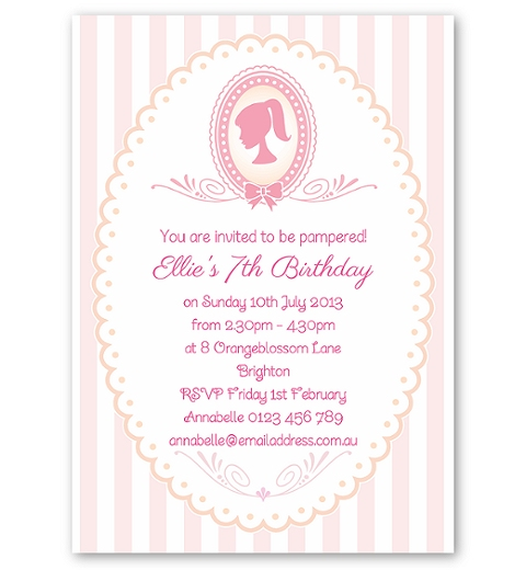 Spa & Pamper Party Invitation