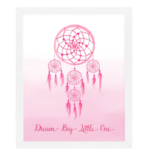 Dream Catcher Wall Art - Pink