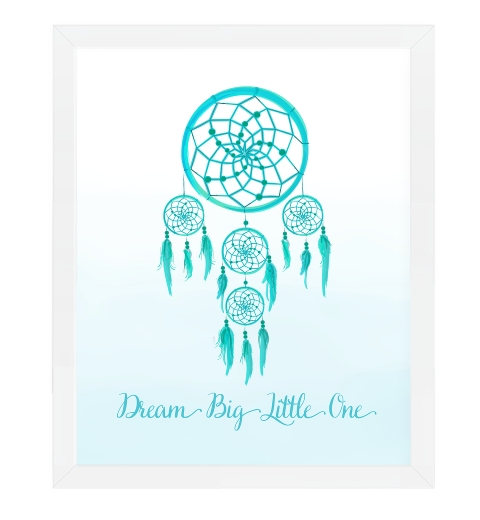 Dream Catcher Wall Art - Blue
