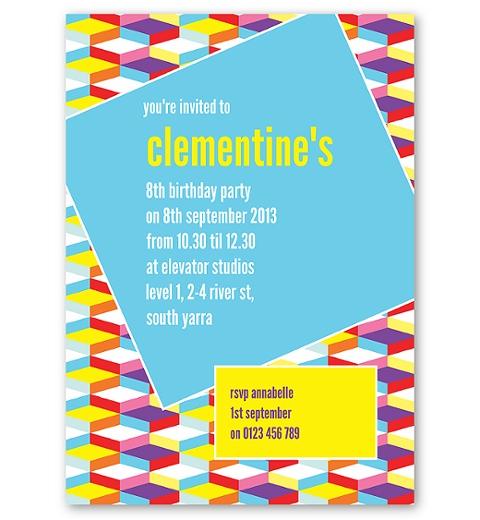 Geometric Dance Party Invitation