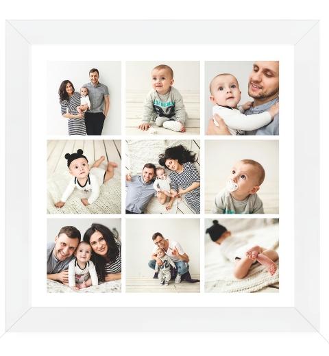 Square Photo Poster - 9 Photos