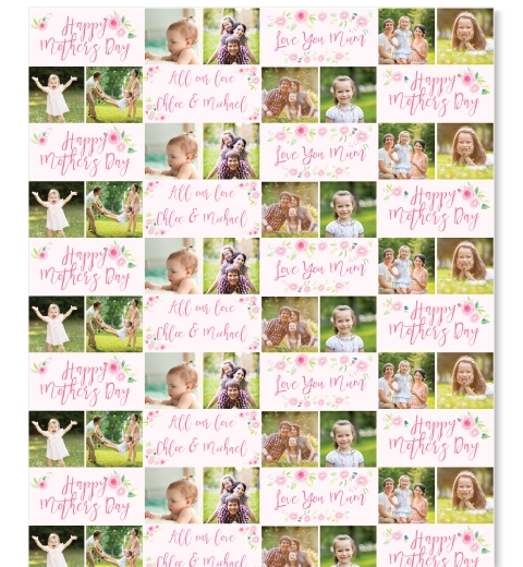 Floral Mother's Day Wrapping Paper