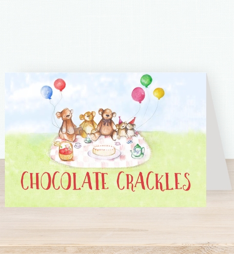 Teddy Bear's Picnic Tent Card