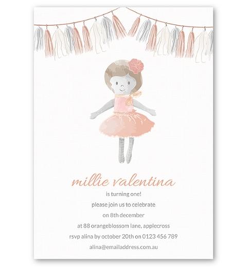 Dolly Birthday Invitation