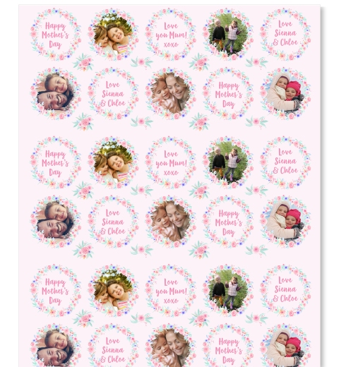 Floral Wreath Wrapping Paper