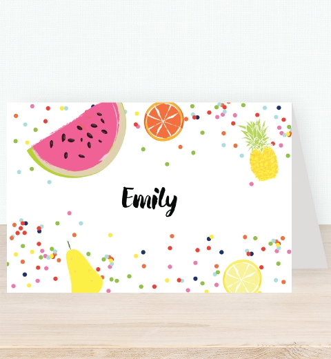 Tutti Fruitti Party Tent Card
