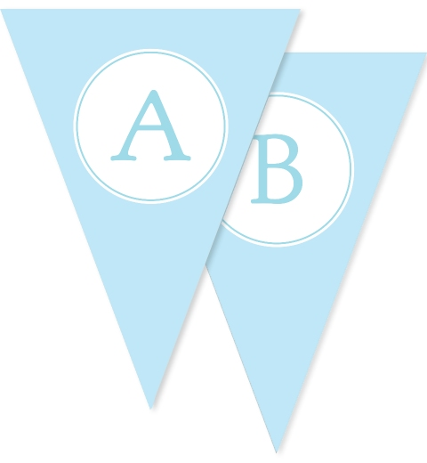 Sweet & Simple Baptism Blue Bunting