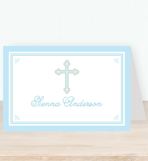 Sweet & Simple Baptism Blue Tent Card