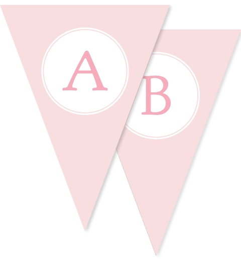 Sweet & Simple Baptism Pink Bunting