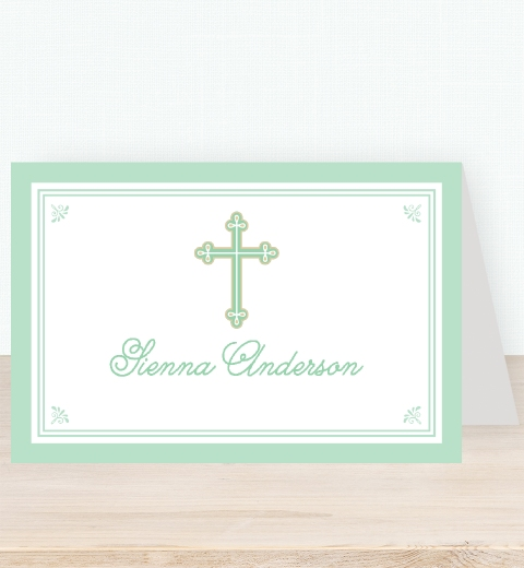 Sweet & Simple Baptism Mint Tent Card