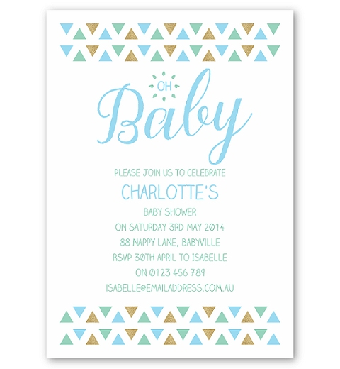 Triangle Baby Shower in Blue