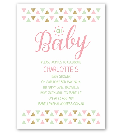 Triangle Baby Shower in Pink