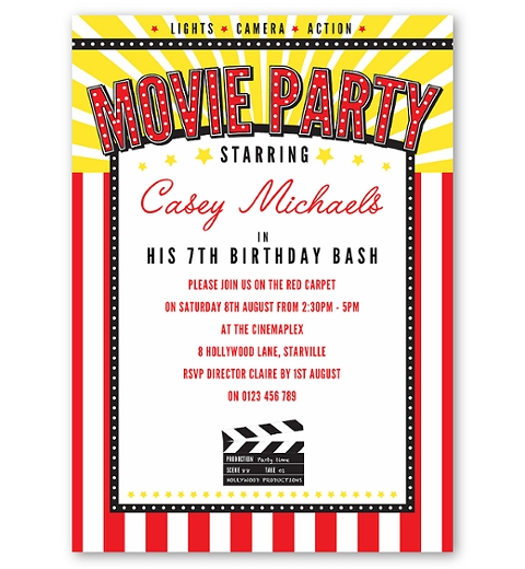 Classic Movie Party Invitation
