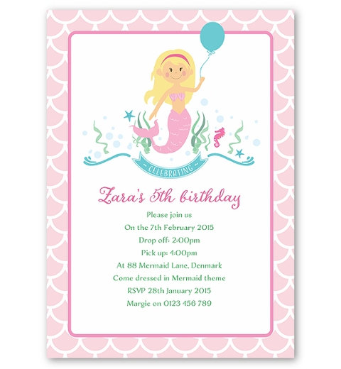 Mermaid Invitation