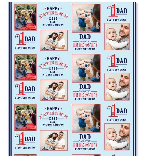 Number 1 Dad Wrapping Paper
