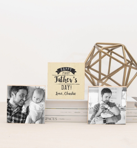 First Father's Day Photo Blocks