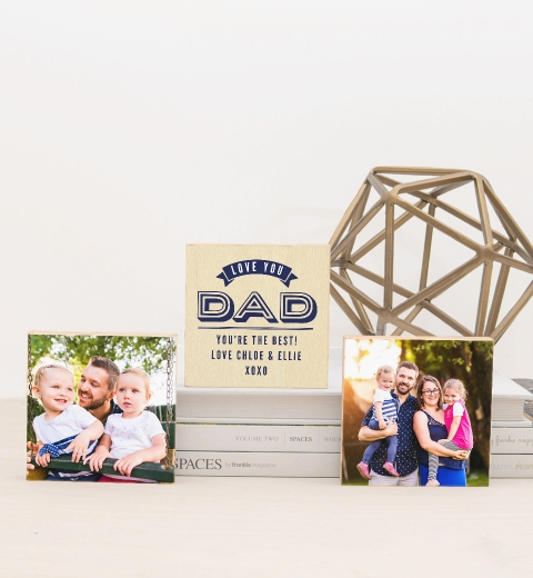 Love You Dad Photo Blocks