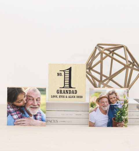 Number 1 Grandad Photo Blocks