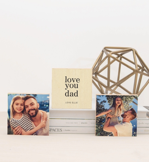 Simple Love You Dad Photo Blocks