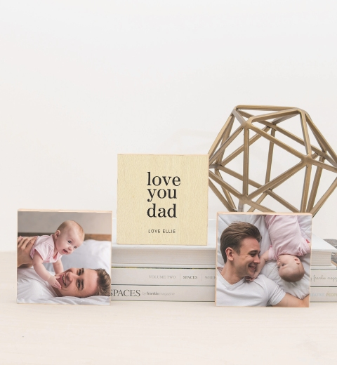 Template Simple Love You Dad Photo Blocks