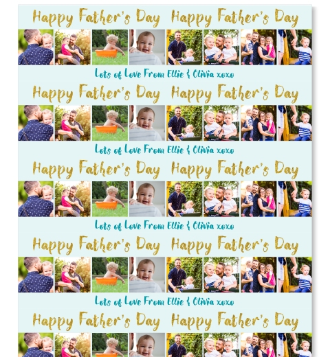 Gold Father's Day Gift Wrap