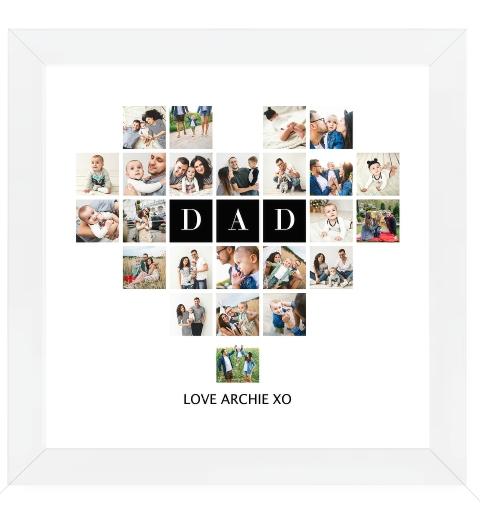Dad Photo Heart