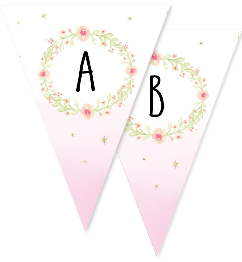 Floral Unicorn Bunting